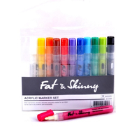 Набор маркеров FAT&SKINNY 12 шт  2-3мм Acrylic, фото 1